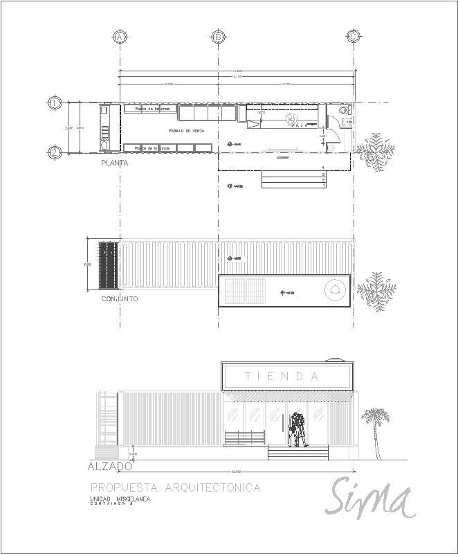 Tienda De Conveniencia Container