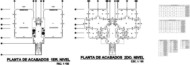 Planta y Cuadros de Acabados Edificio