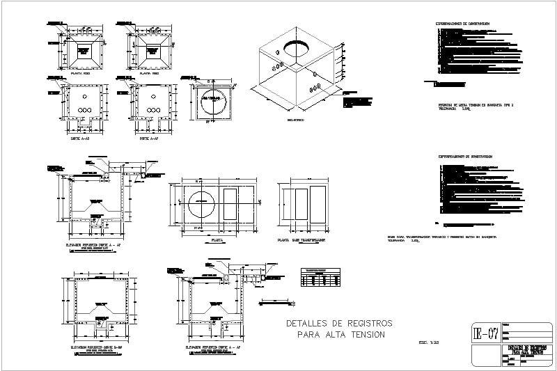 Registro eléctrico para alta tension de C.F.E.