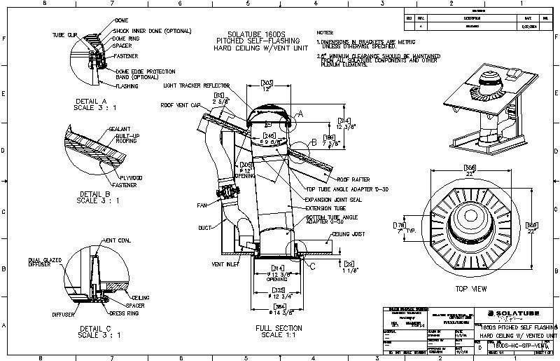 Detalle de Instalación de Sistema Solatube