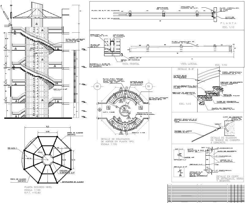 escalera circular