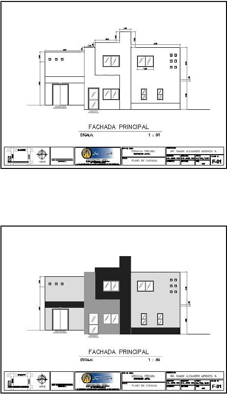 fachada de una escuela de enfermeria
