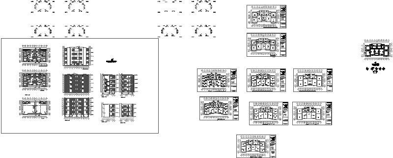 plano de cimentaciones de edificio residencial de 3 niveles