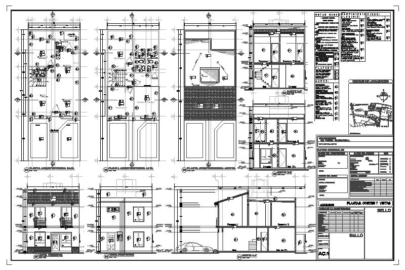Plano Arquitectónico De Acabados