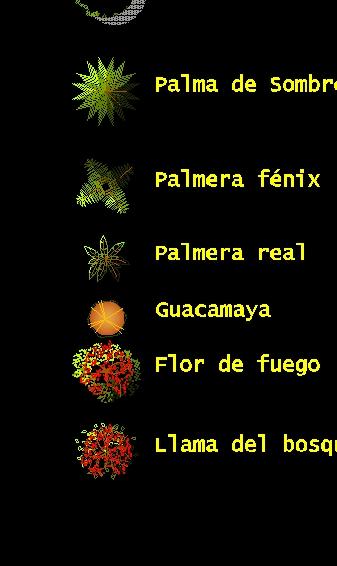 Arboles en planta conceptuales