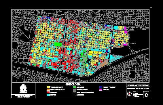 Plano Uso Actual Centro Monterrey