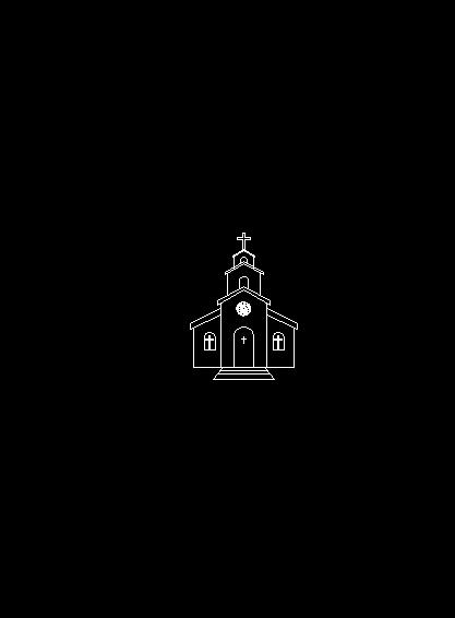 iglesia de caricaturas