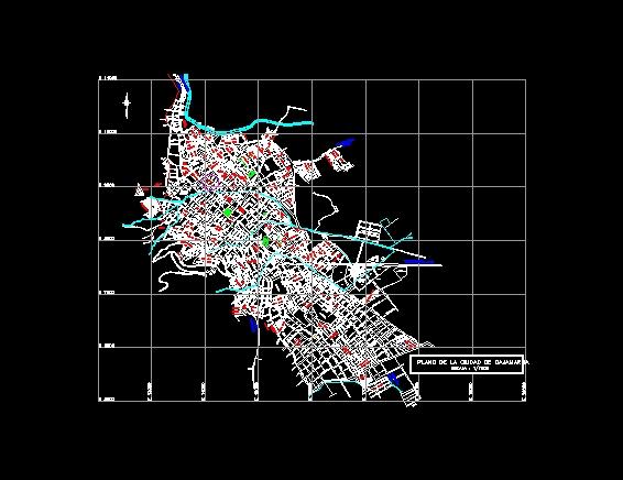 Plano Urbano Cajamarca