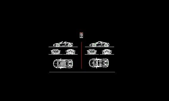 bloque dwg de Auto Ferrari Spider