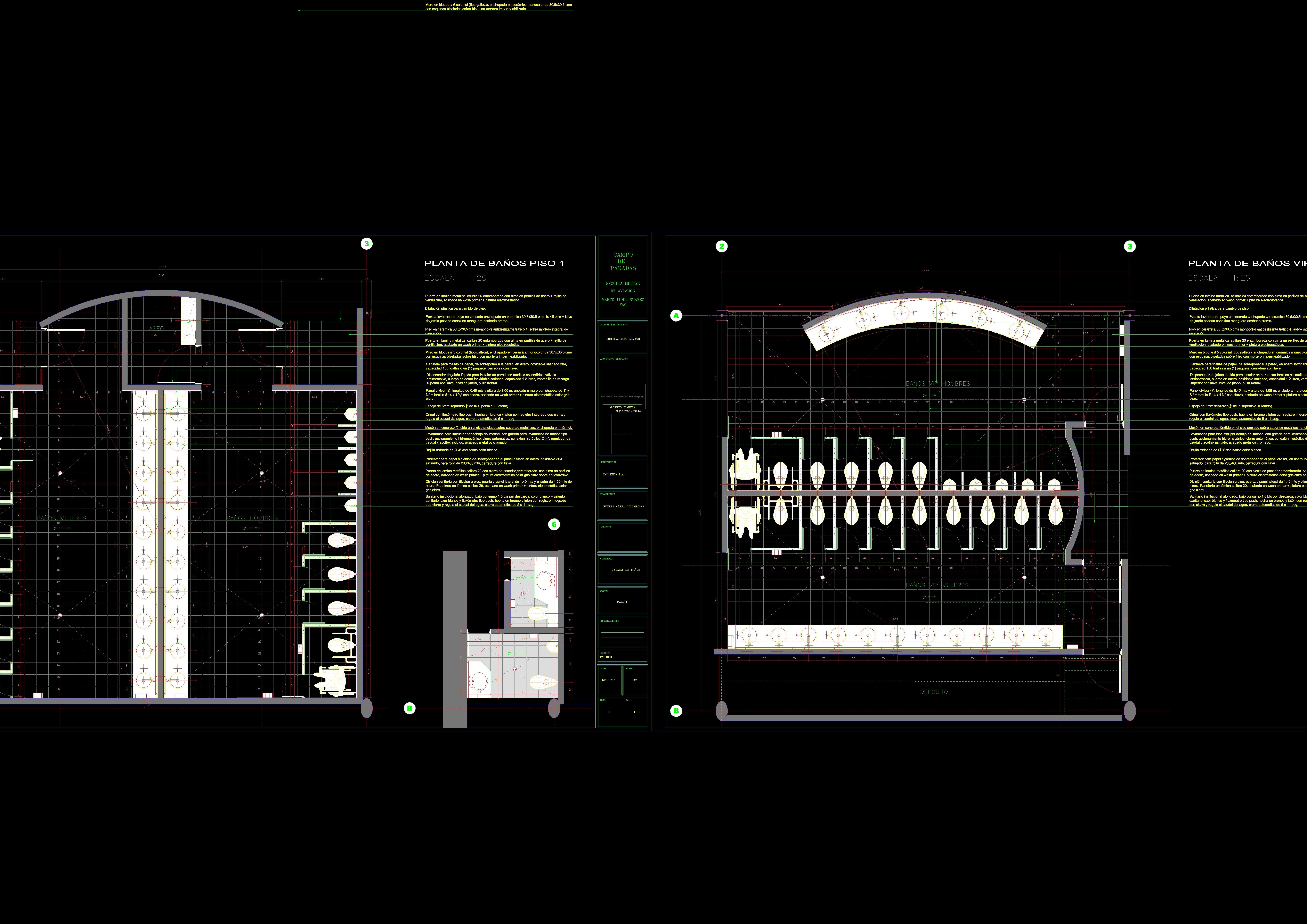 Descarga gratis ba os de un colegio en detalle planos y bloques en autocad sobre arquitectura - Bloques autocad banos ...