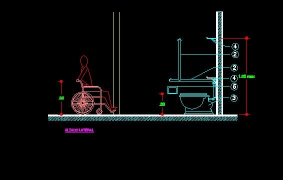Descarga gratis discapacitados planos y bloques en autocad sobre arquitectura y construcci n - Bloques autocad banos ...