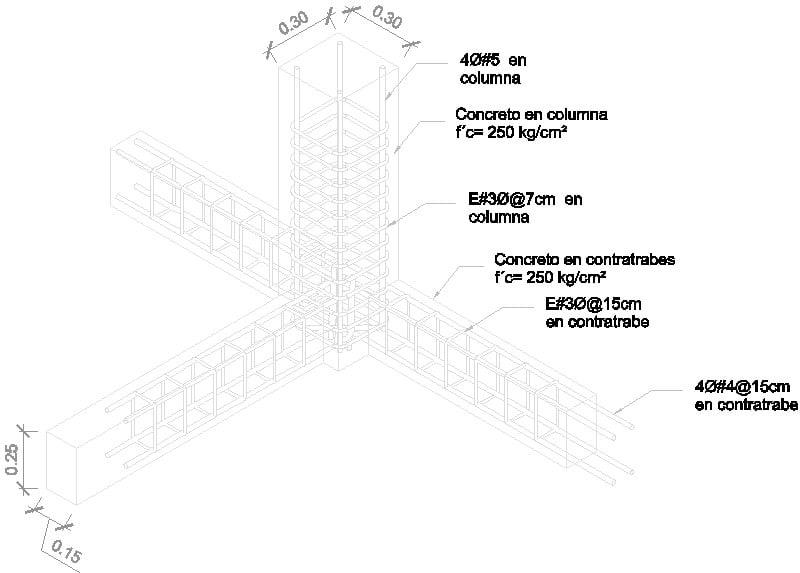 Detalle Columna Contratrabe