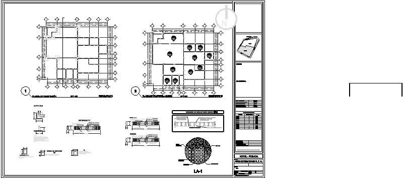 Plano estructural de restaurante