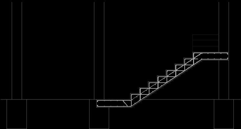 escalera en corte