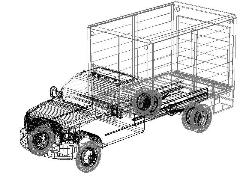 Camión en 3d