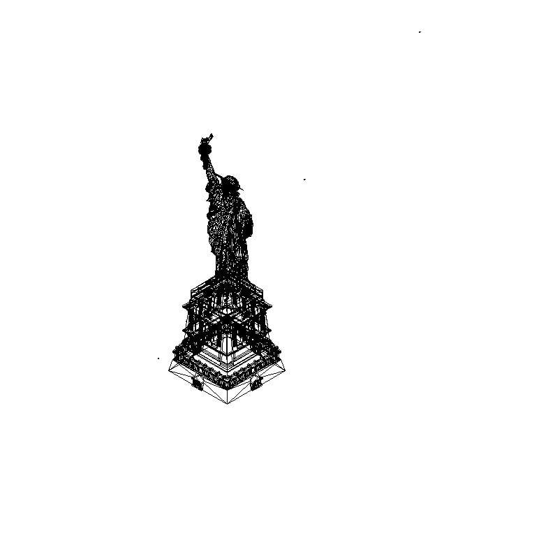 estatua de la liberta 3d