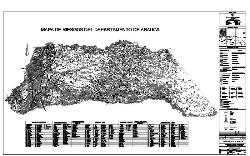 Plano de riesgos del Departamento de Arauca