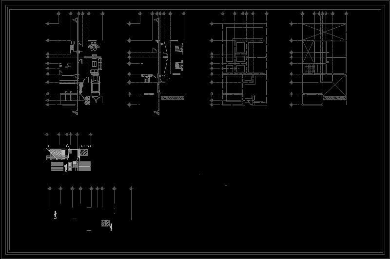 Plano de casa habitacion de dos niveles