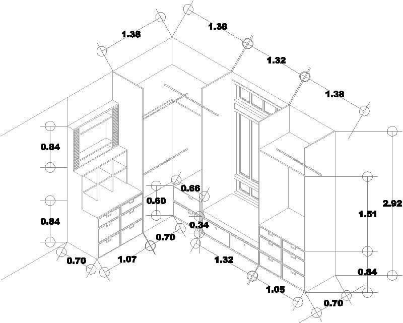 isometrico closet