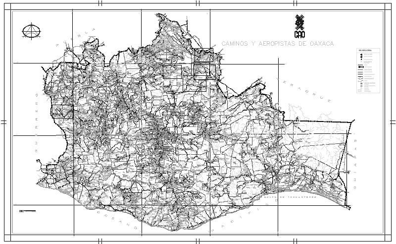 Plano Del Estado De Oaxaca Cao
