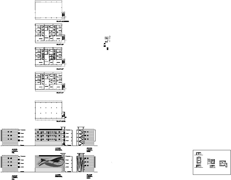 edificio de tres plantas mas sótano y cubierta