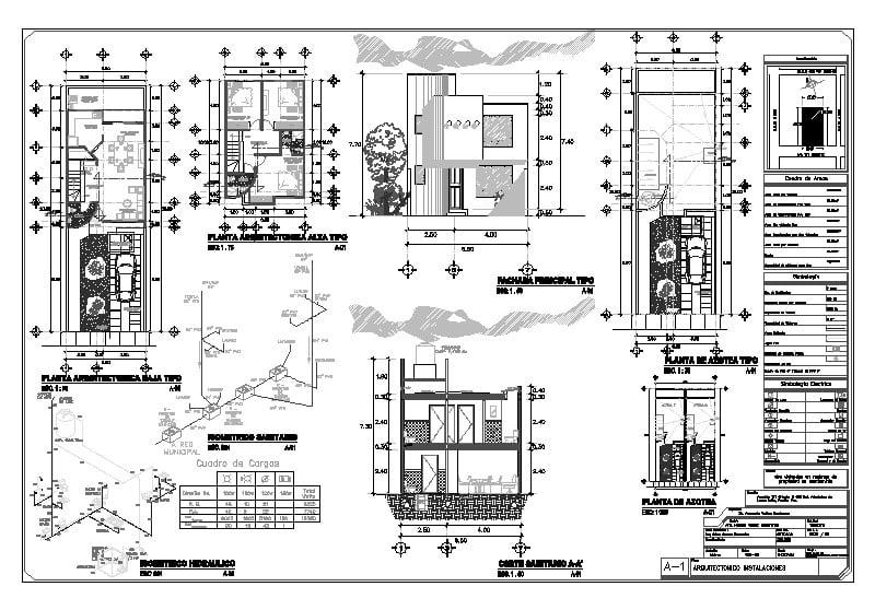 casa habitación (Planos sanitarios, eléctricos e hidráulicos y estructurales)
