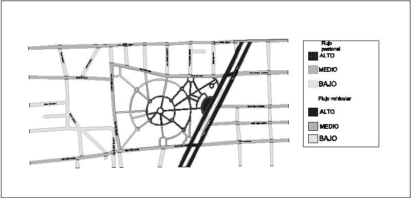 flujos de transito en parque morelos