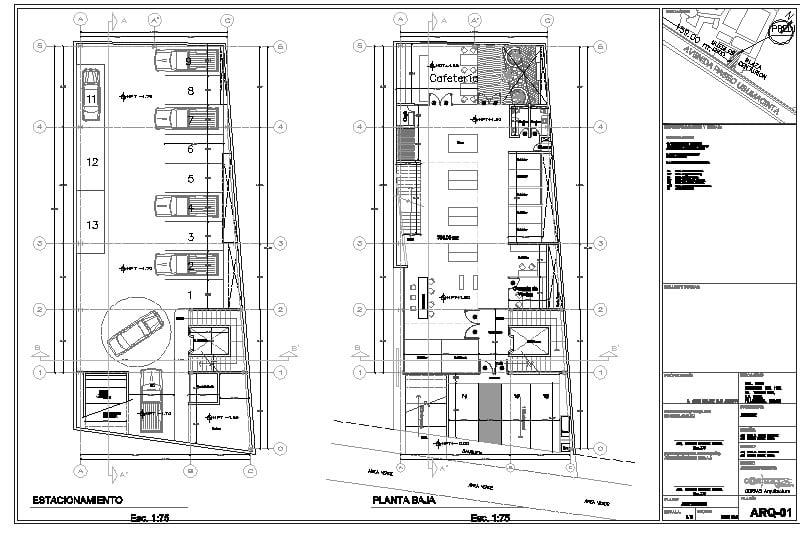 plano de edficio de oficinas
