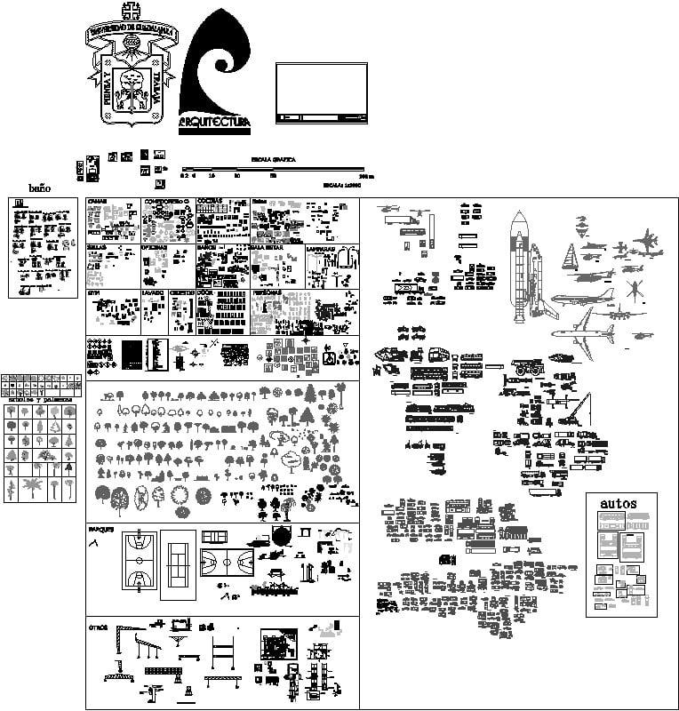 bloques para proyectos arquitectonico