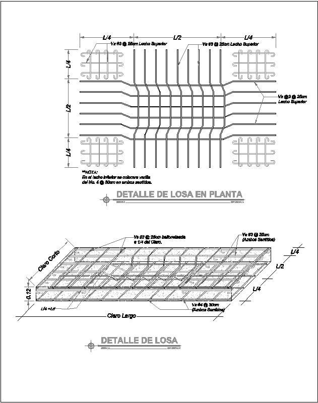 Detalle de Armado de Losa Maciza