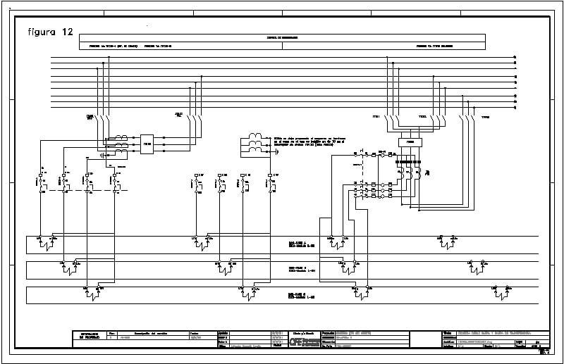 esquema doble barra y barra  de transferencia