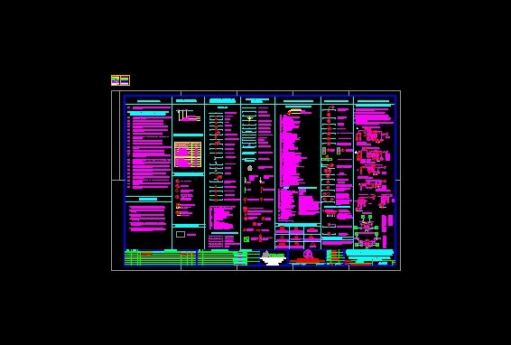 Plano de notas generales y simbologia de CDGM Cd. Pemex