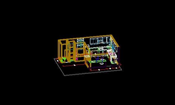 Modelo 3D Cocina Integral