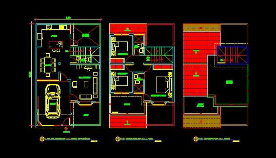 planos de casas modernas en autocad