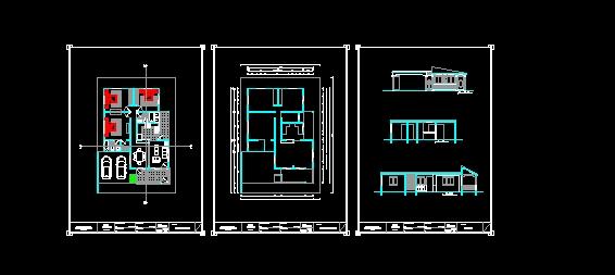 Descarga gratis casa habitacion basica planos y bloques for Habitacion 3d autocad