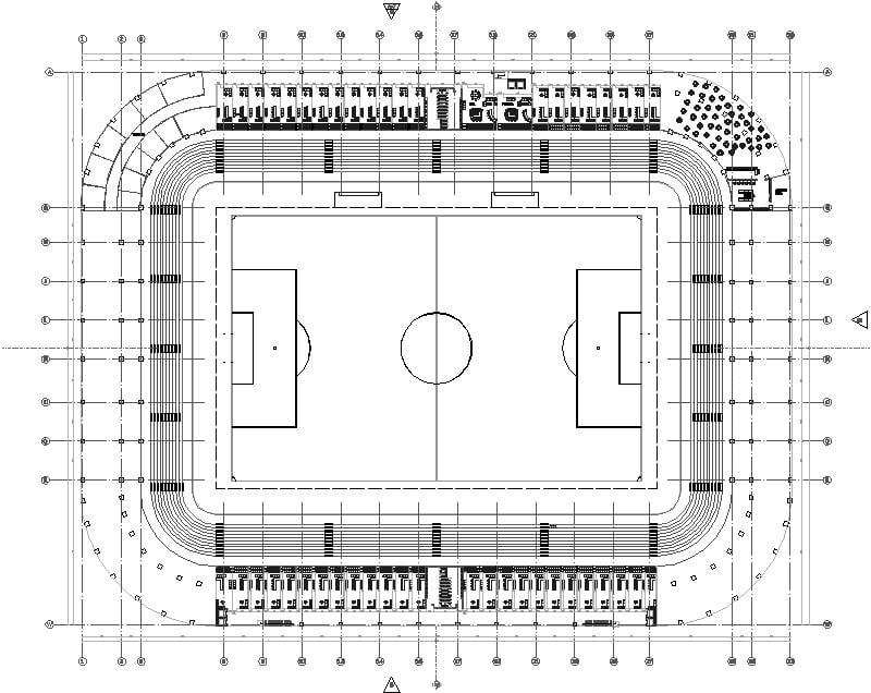 Planta De Palcos De Estadio De Futbol