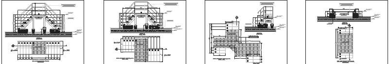 plano de escalera metálica