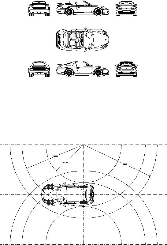 Radio de giro automóvil