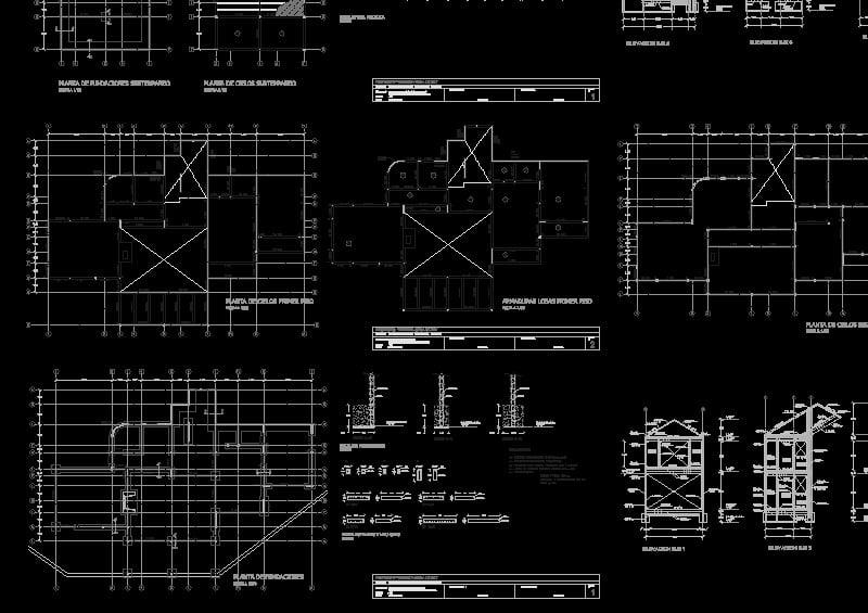 Arquitectónicos y estructurales de casa.