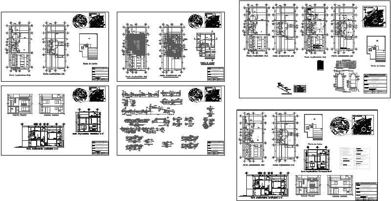 casa de dos niveles, planos cimentación, eléctrico, gas, hidráulico, arquitectónico y otros detalles