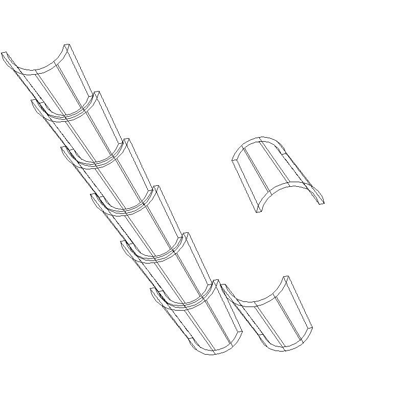 bloque de teja 3D