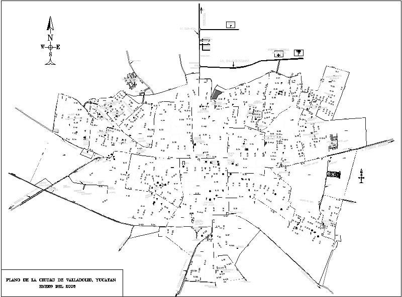 Plano de Valladolid Yucatan
