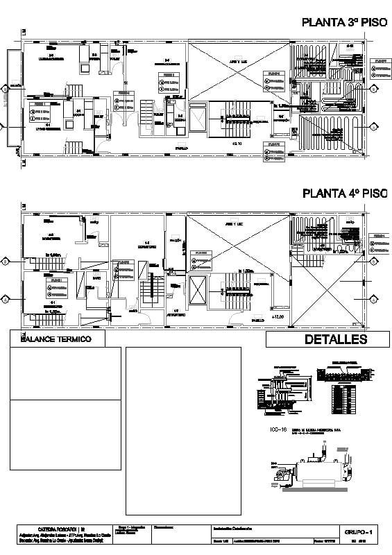 Instalacion termica de edificio de 4 plantas