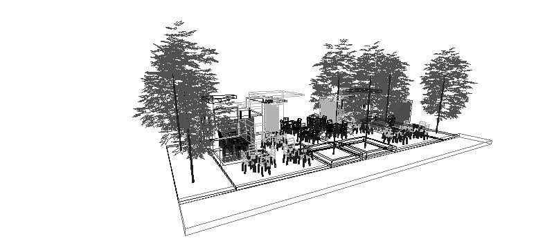 Kiosco urbano 3D