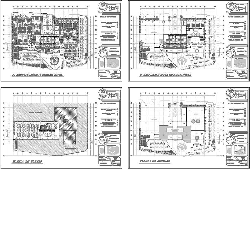 Planos de una plaza comercial en ecatepec