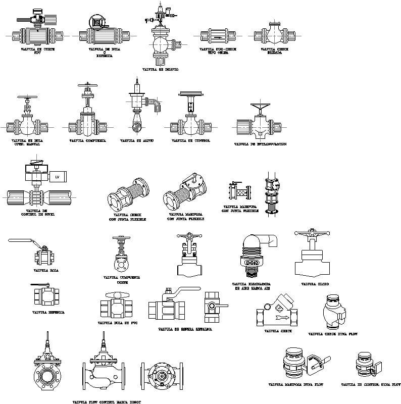 Detalle de válvulas