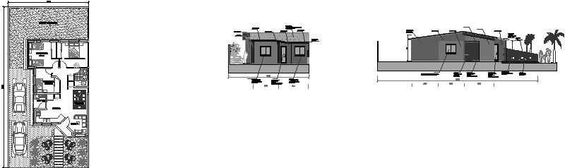 Planta Arquitectura y Fachadas vivienda unifamiliar