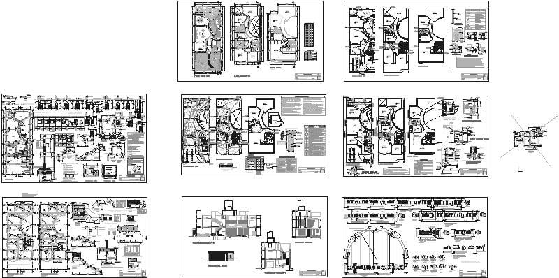 Casa Habitacion 20x8, planos estructurales, eléctricos, sanitarios,