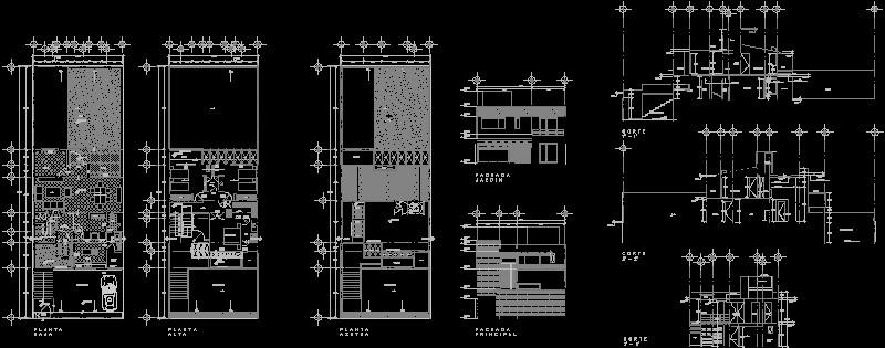 casa habitacion con cortes transversales