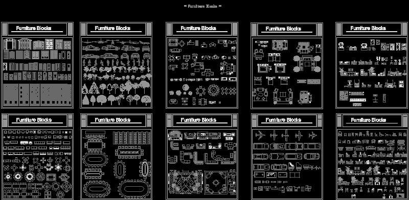 colección de bloques básicos autocad parte II